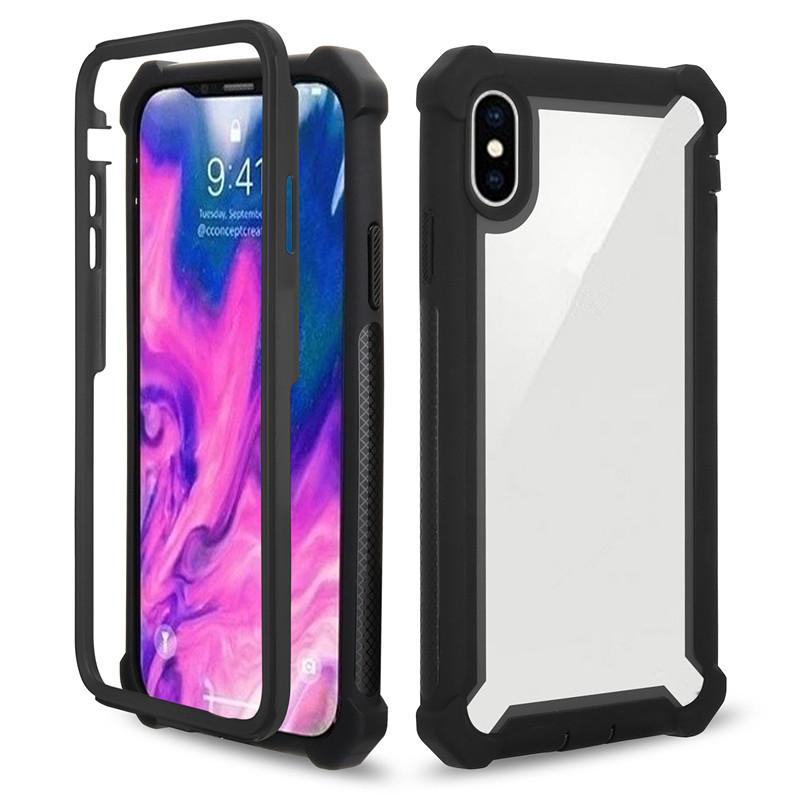 Hybrid Rüstung Verteidiger Telefon transparent Fall für iPhone X Xs Max Xr 8 7 6 6s Plus Samsung Galaxy S8 S9 Plus Hinweis 9 8 S10 S10e Plus Cover