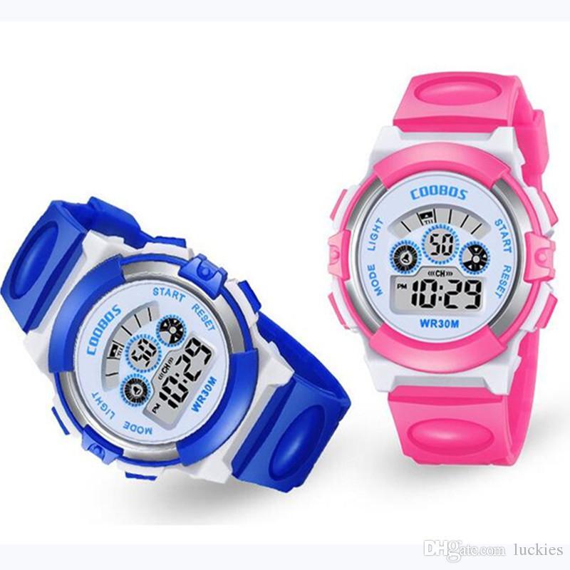 b65dfeb6918 2019 New Small Sport Students Children Watch Kids Watches Boys Girls Clock  Child Electronic LED Digital Wrist Watch For Boy Girl Gift Digital Watches  Gold ...
