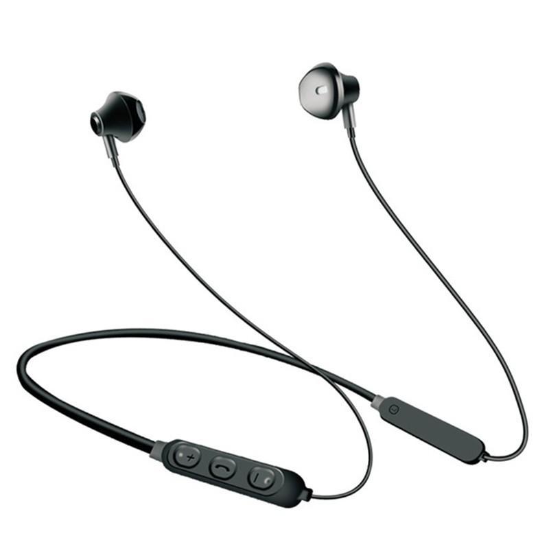 Auricolare Bluetooth Universal Wireless Sports Bluetooth 5.0 Stereo Basso  Pesante Nell orecchio Cuffie Auricolari Appesi All orecchio Con Microfono  ... 7cd4d4b94dae