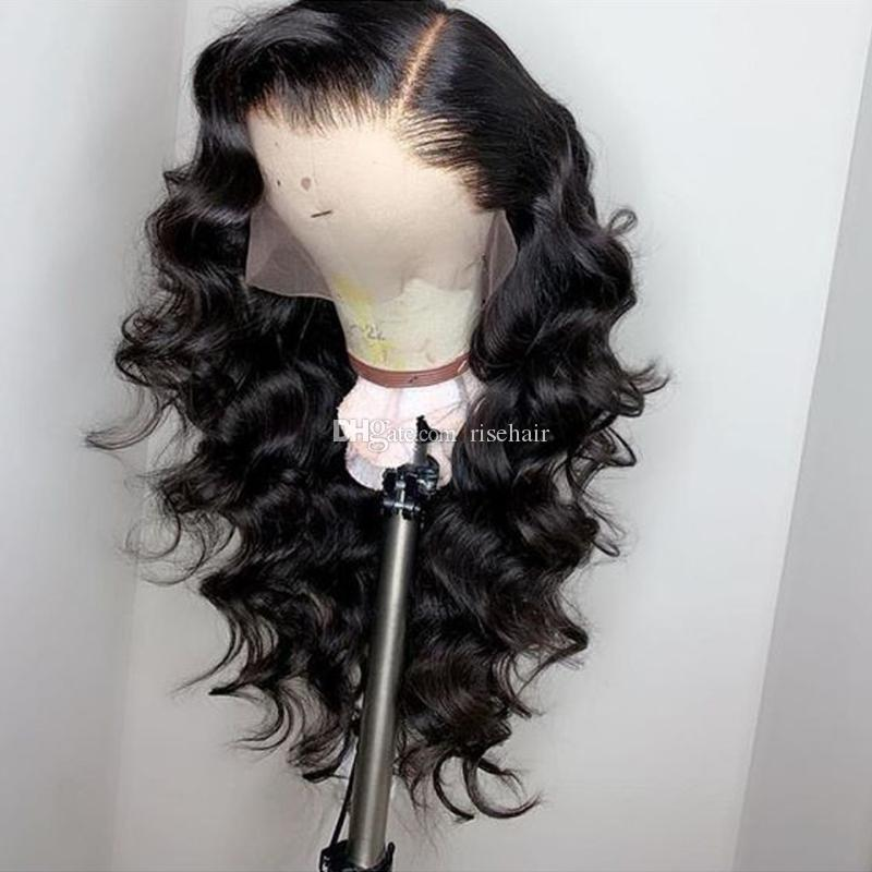 Brazilian Loose Wave Lace Front Human Hair Wigs for Black Women Pre Plucked with Natural Hairline Baby Hair 150% Density