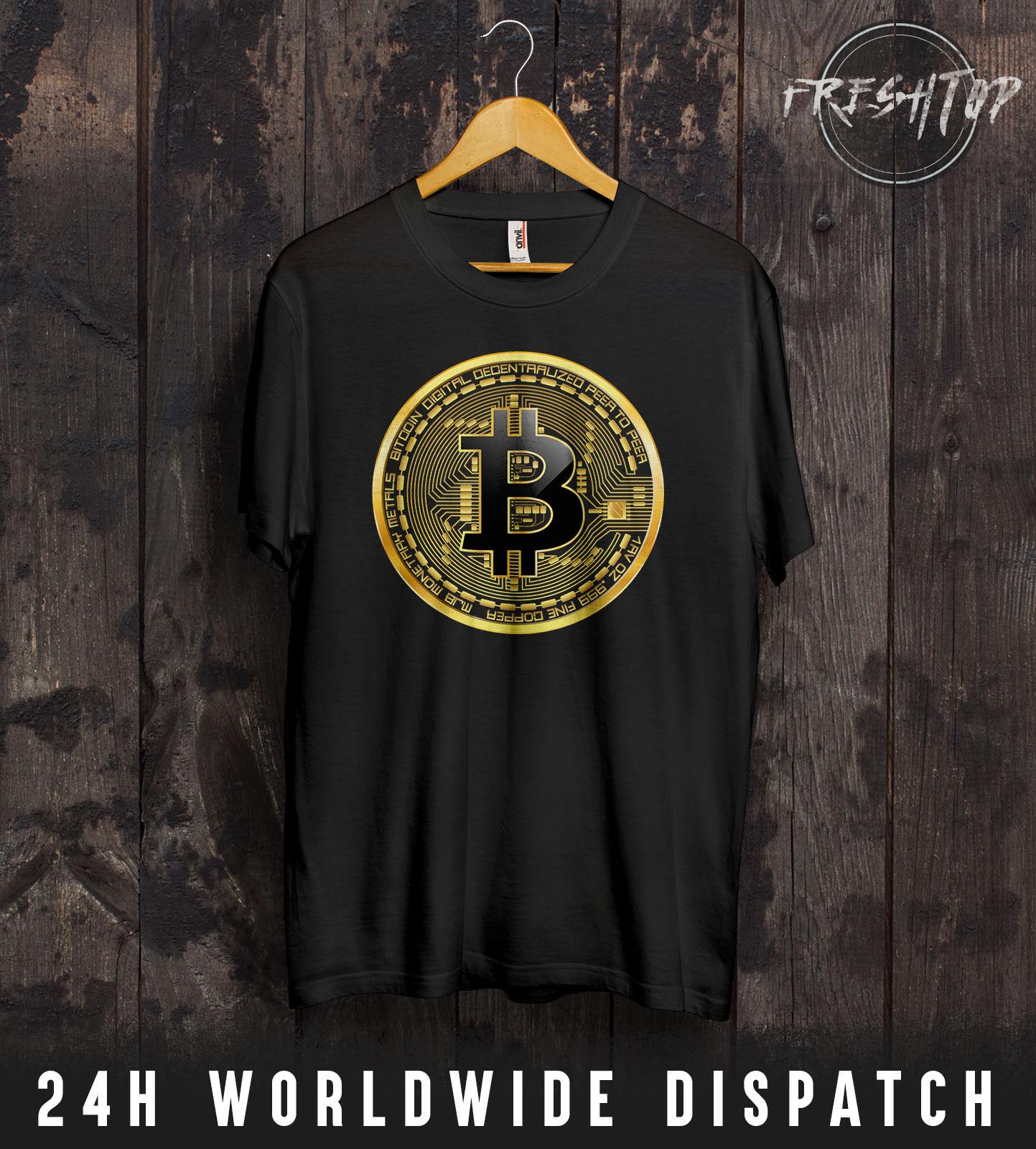 Bitcoin Logo T Shirt Satoshi Nakamoto Mining Cryptocurrency Money Future  Miner Funny Tees Shirts Men T Shirt Classic