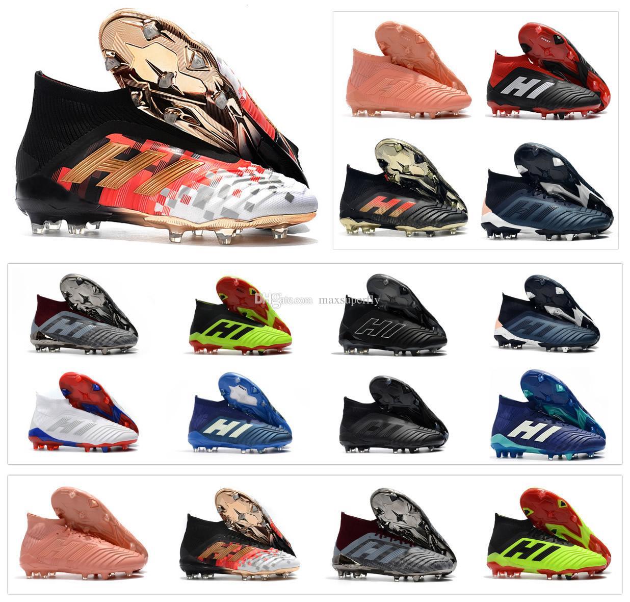 Predator 18 Predator 18.1 FG PP Paul Pogba soccer 18 x tacos Slip On botas de fútbol para hombre zapatos de fútbol top high size Tamaño 39 45