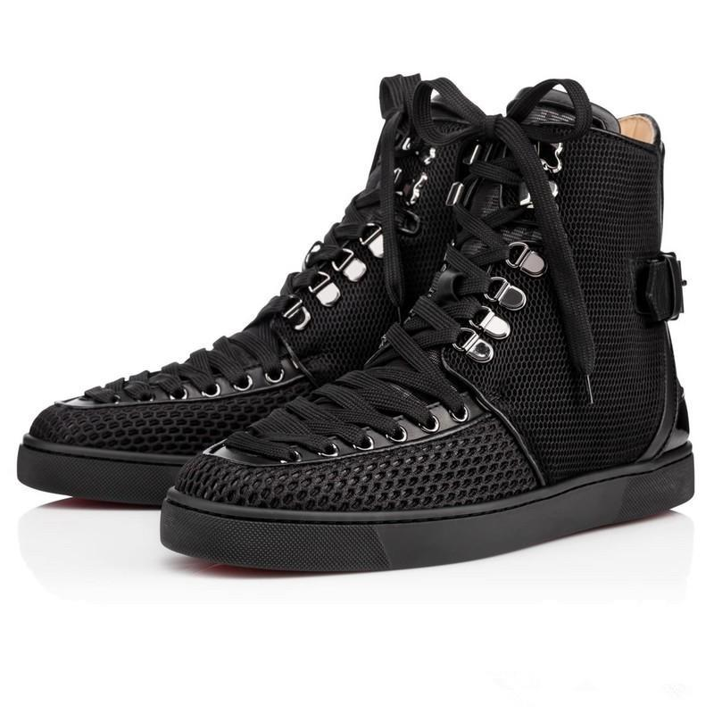 52f672269c28 2018 NewOriginal Box Luxury Party Men Women Red Bottom Sneakers Lace Up High  Top Sneaker Boots