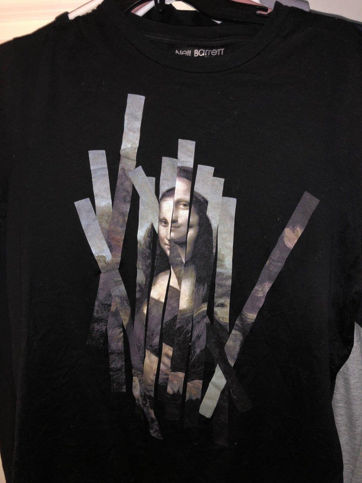 92e2664a139e2 Compre Neil Barrett Camiseta Mona Lisa Pequeña Negra Camisetas De Marca  Jeans Imprimir Miedo Cosplay Liverpoott Camiseta A  16.24 Del Adidascup