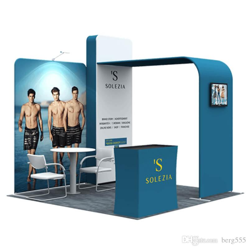 Portable Exhibition Display : Portable exhibition booth display stand with aluminum