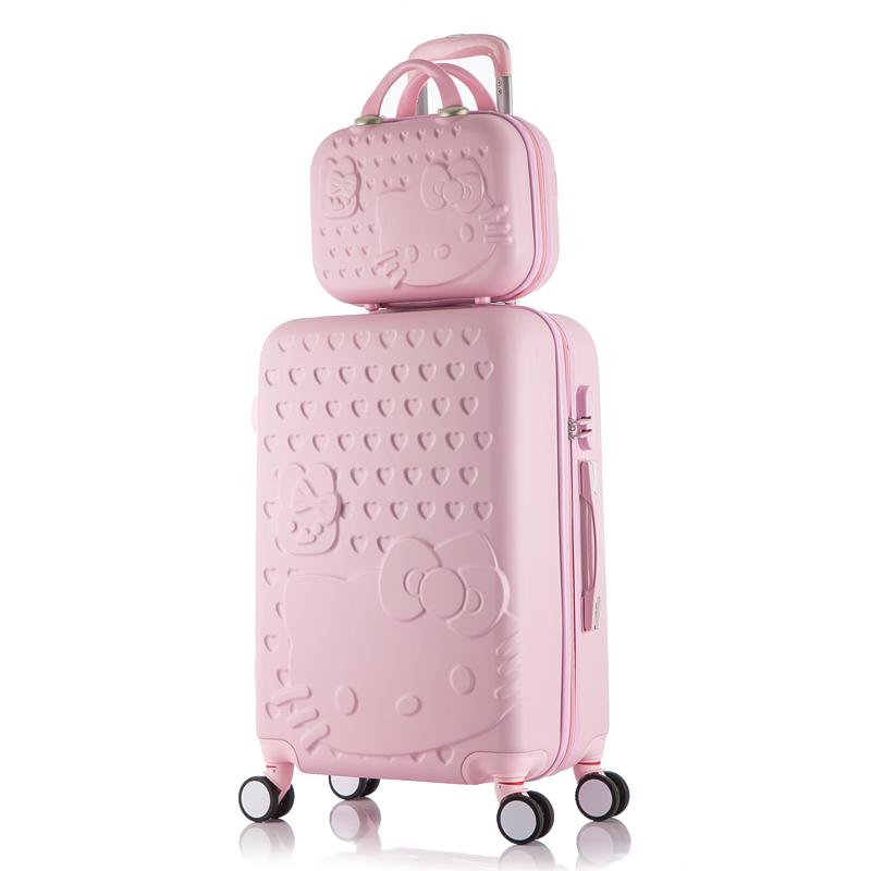 d104f53ae1 Hello Kitty Children Women Suitcase Set Bag