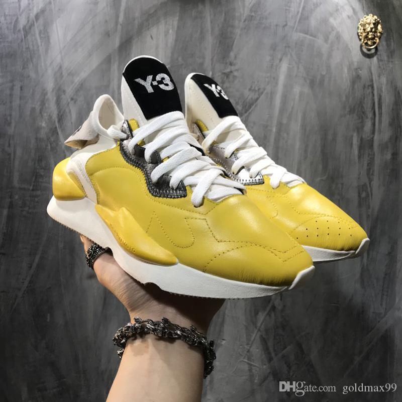 buy online a3e63 d9be5 Top sale 2019 High Quality Y-3 Kaiwa Chunky Men Women Casual Shoes  Luxurious Fashion Yellow Black Red White Y3 Boots Sneakers 38-44