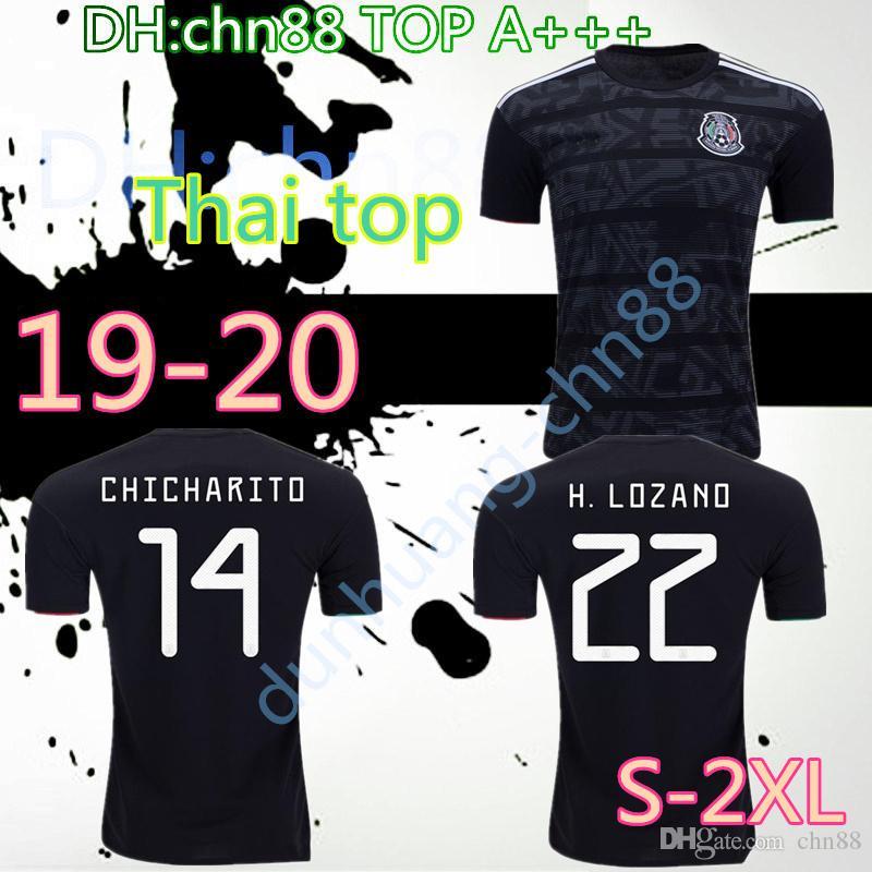 e1a410815ae 2019 2019 Mexico Gold Cup Soccer Jersey Black VELA CHICHARITO LOZANO  MARQUEZ HERRERA Football Shirt Top Quality National Team Uniform From  Chn88