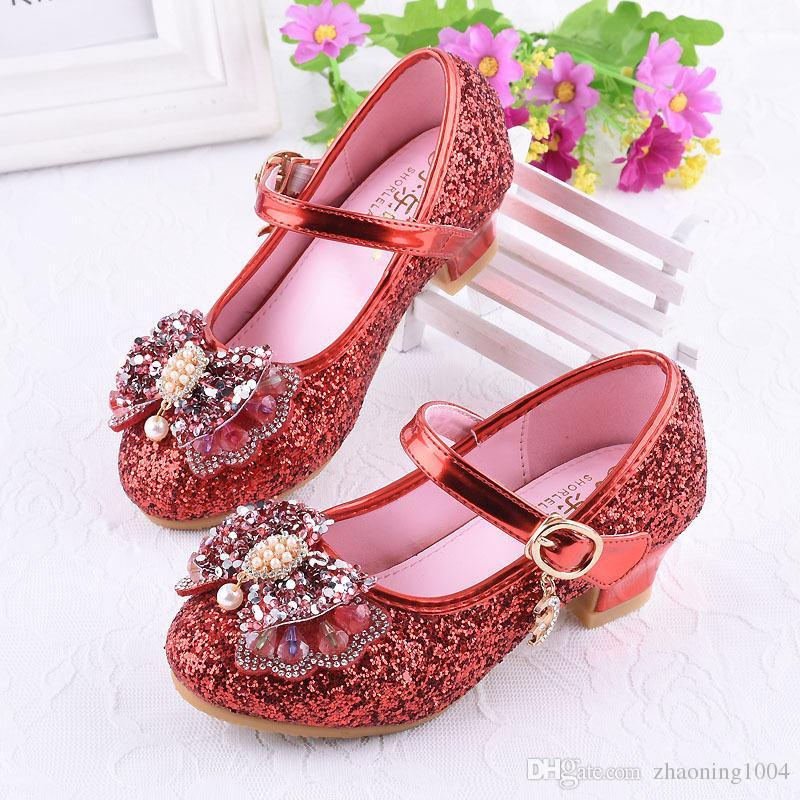 cd1cc094068d6f Acheter Enfants Fille Princesse Chaussures Avec Arc De Mariage Toddler  Chaussures Pour Enfants Doux Bébé Filles Sandale Chaussures De $21.92 Du  Zhaoning1004 ...