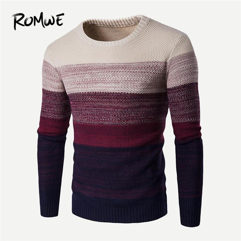 09e8fceae54f 2019 Men Colorblock Dip Dyed Sweater Designer Mens Clothing Brands Casual  Jumper Autumn Winter 2018 Clothes Pullovers Knitwear From Movearound