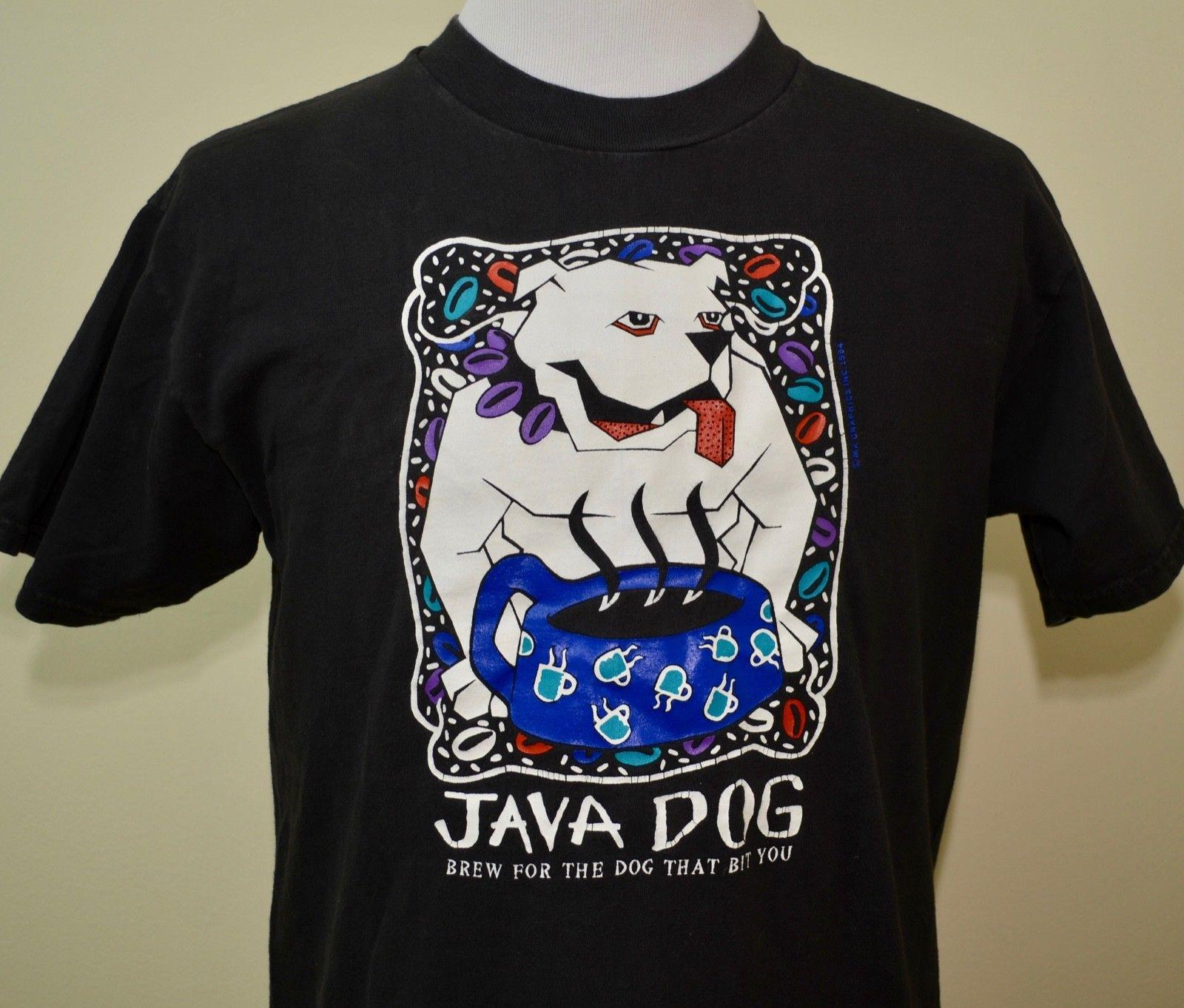 Borders Book Store T Shirt Black Large Java Dog Las Vegas Cool Art