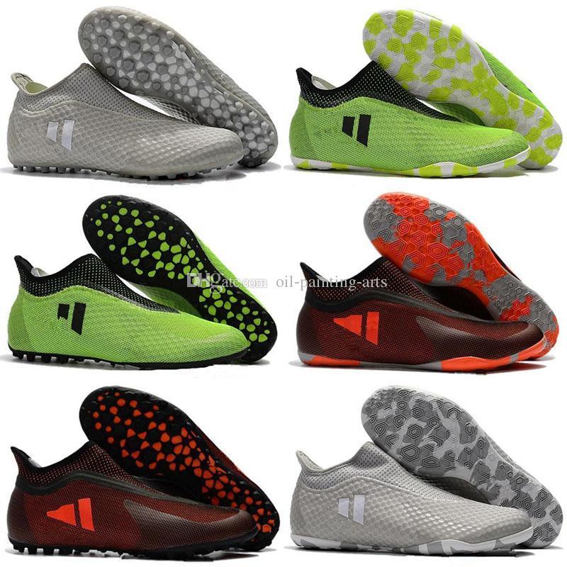finest selection 583b9 b09ed New Mens Soccer Shoes Turf X Tango 17 Purespeed TF IC Indoor Soccer Cleats  Botas De Futbol New Football Boots Predator Futsal