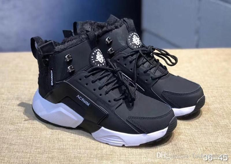 c40ec632e579 New Arrival Huarache 6 X Acronym City MID Leather High Top Huaraches  Running Shoes Men Women Huraches Warm Winter Boots Sneakers Size 36 45  Sports Shorts ...
