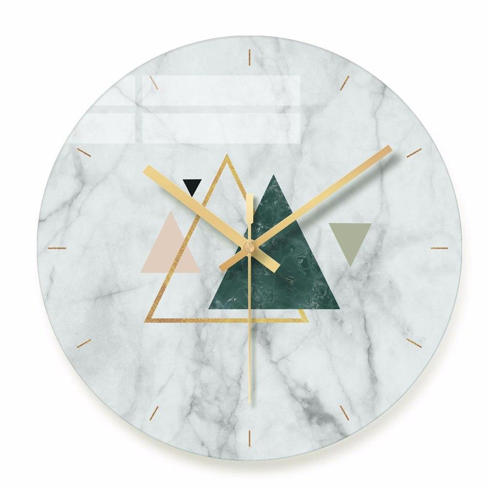 . Decorative Wall Clock Brief Modern Design Wall Clocks for Living Room  Silent Quartz Glass Hanging Clock for Kitchen Home Decor