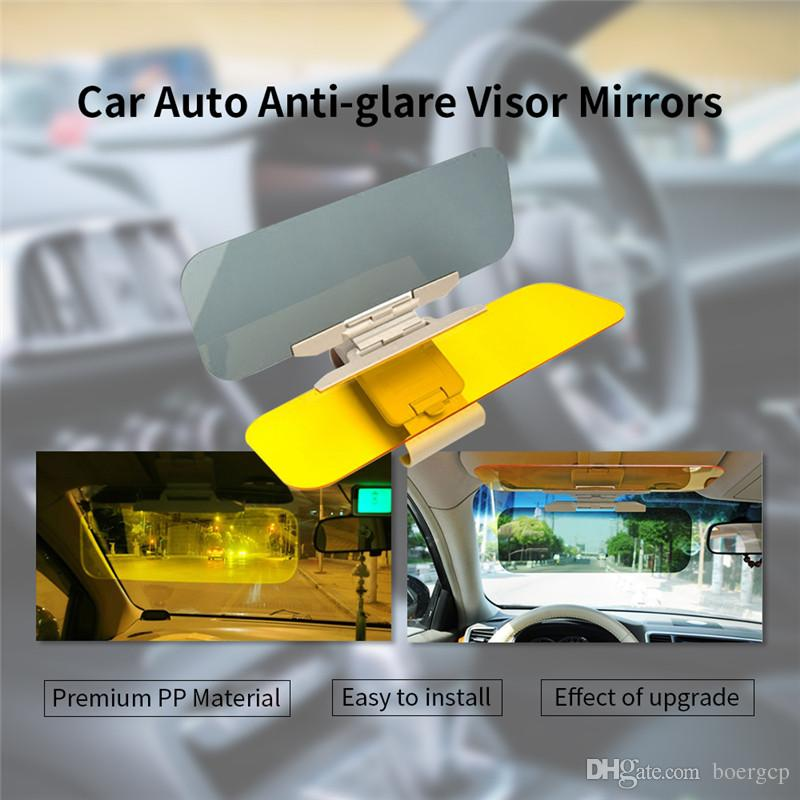 Car Sun Visor HD Anti Sunlight Dazzling Goggle Day Night Vision Driving  Mirror UV Fold Flip Down Clear View Mirrors Anti Glare Mirror Car  Decoration ... eb962f35c9e