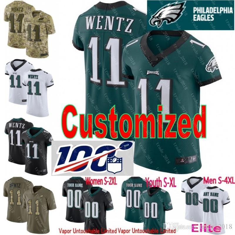 buy popular 4c66a 6b1c2 Philadelphia Custom 10 DeSean Jackson Carson Wentz Zach Ertz Fletcher Cox  Jersey Eagles 26 Jay Ajayi 59 Joe Walker 65 Lane Johnson elited 06