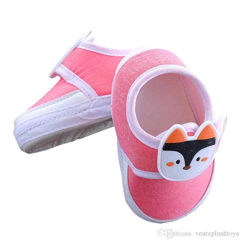 Baby Shoes Baby Boy Girl Breathable Cartoon Animal Pattern Anti-Slip Shoes Casual Walking Shoe Toddler Soft Soled First Walkers