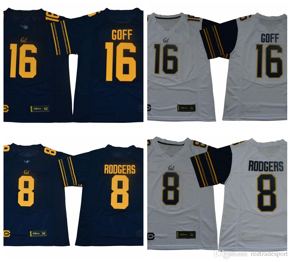 2019 2019 California Golden Bears Jared Goff College Football Jerseys Mens  CAL 8 Aaron Rodgers 16 Jared Goff New Blue Stitched Football Shirts From ... 39ca6e91b