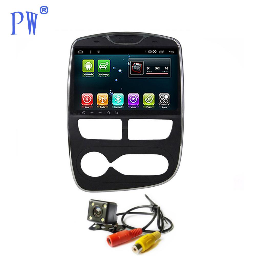 Android 7.1 Car Radio GPS Navigation Stereo for Clio Head Unit Car Multimedia Audio no CD DVD Player Auto/Manual Navi