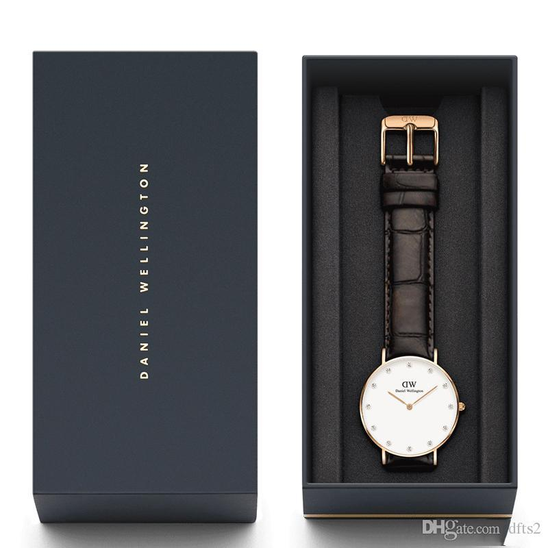 59b594cce 2019 New Fashion Women Daniel Wellington Watch Leather Strap 26MM 34MM  Diamond Watch Dial Business Casual Brand DW Watch Watches For Sale Wrist  Watches From ...