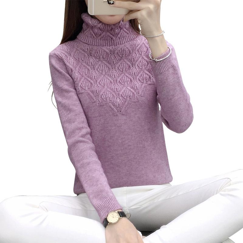 249c09177a6 2019 New 2019 Women Vintage Knitted Cashmere Sweater Women Winter  Turtleneck Thick Sweaters And Pullovers Female Tops Re0834 From  Godblessus16388801