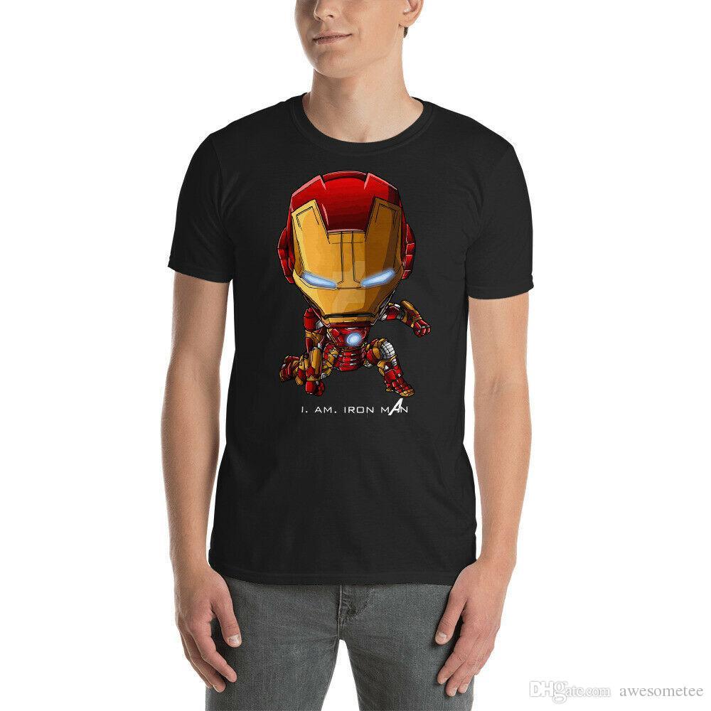 d81f5588 I Am Iron Man Unisex T Shirt Summer S 3XL Novelty T Shirts Fun T Shirts  From Awesometee, $11.17  DHgate.Com