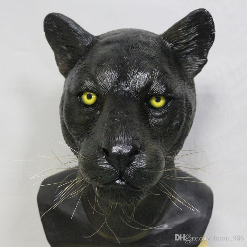 2018 Top Selling Lively Leopard Panther Animal Latex Mask For Halloween Costumes Party Cosplay Decoration