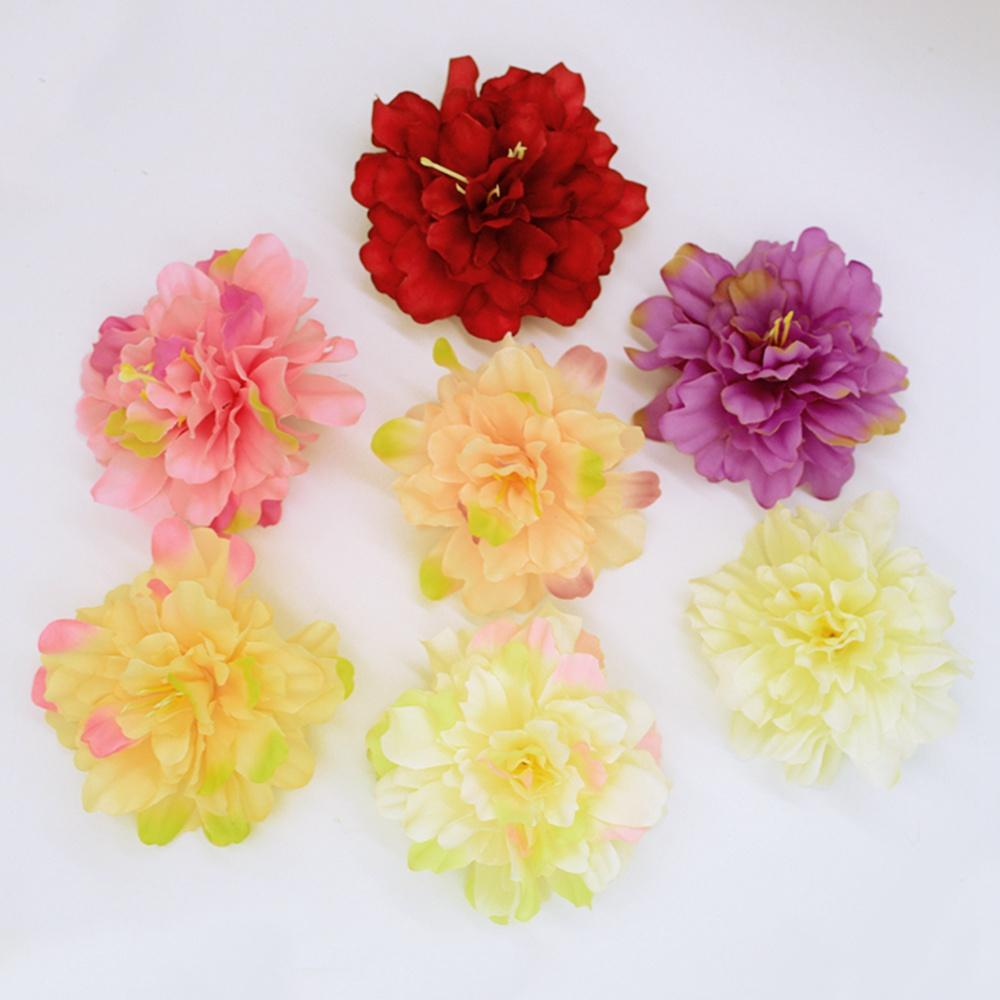 10Pcs Bulk Large Artificial Fake Rose Silk Peony flower Heads Floral Supplies