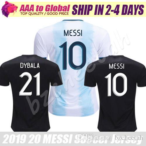02507ed54e9 2019 Top MESSI Jersey 2020 Thai Quality Football Shirts Camiseta DI MARIA  HIGUAIN DYBALA MARADONA ICARDI Soccer Jerseys Uniform Maillot De Foot From  ...