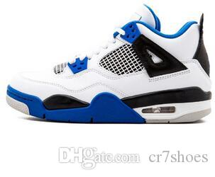 99e438174c9855 All White Best Mens Basketball Shoes 4 Military Motosports Blue Alternate  89 Pure Money New Basketball Trainers 4s Sports Sneakers US 7 13 Online Shoe  ...