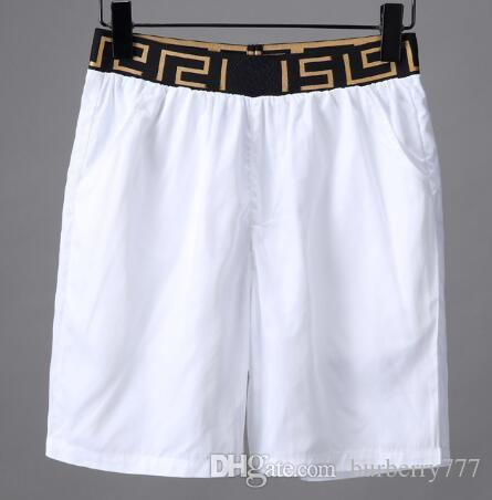 1624c85cb7 2019 Discount Italy Design Men Beach Shorts Plaid Waist Cotton Fashion  Solid Short Pants High Quality Swimwear Board Trunks White Black M 3XL From  ...