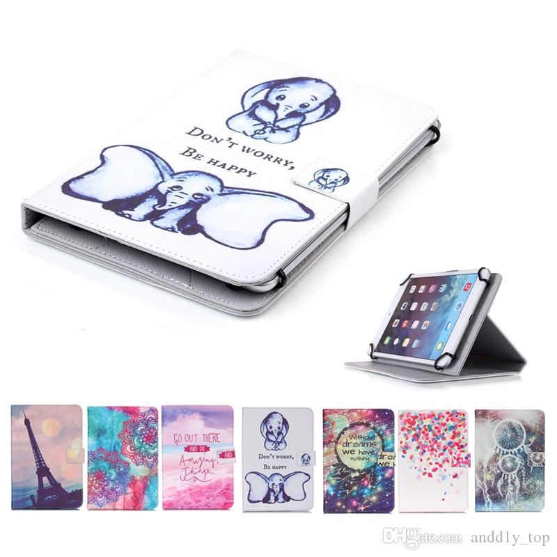 new product 57a8b 53a63 Printed Universal 7 inch Tablet Case for Asus Fonepad 7 FE375CL FE171CG  FE375CG FE375CXG Cases kickstand Flip Cover Cases PU Leather Bags