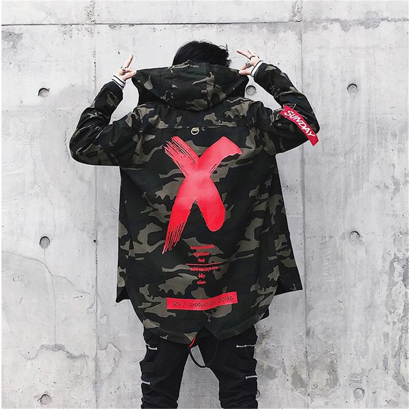 c3a23478358 X Printed Winter Jacket for Men Tactical Camouflage Loose Hooded ...