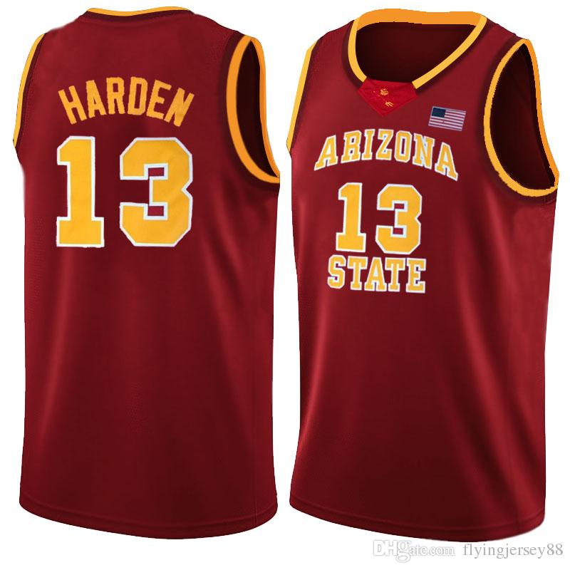 eb9992563 2019 NCAA James 13 Harden College Jersey Mens University Basketball Jerseys  Lll Red Yellow White Blue College Basketball Wears88 From Flyingjersey88