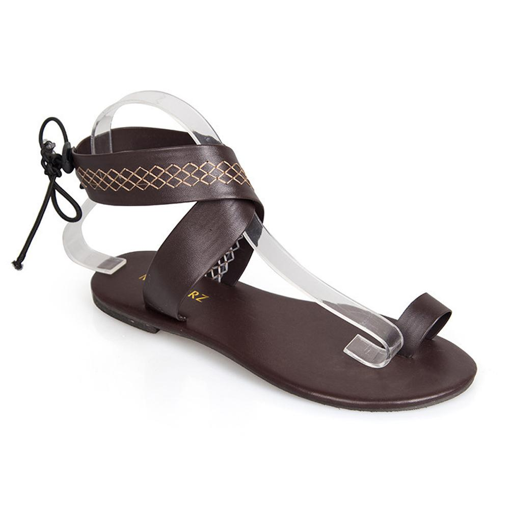 db4418ec9e653 Gladiator Sandals Ethnic Style Flip Flops Toe Sandals Beach Flat ...