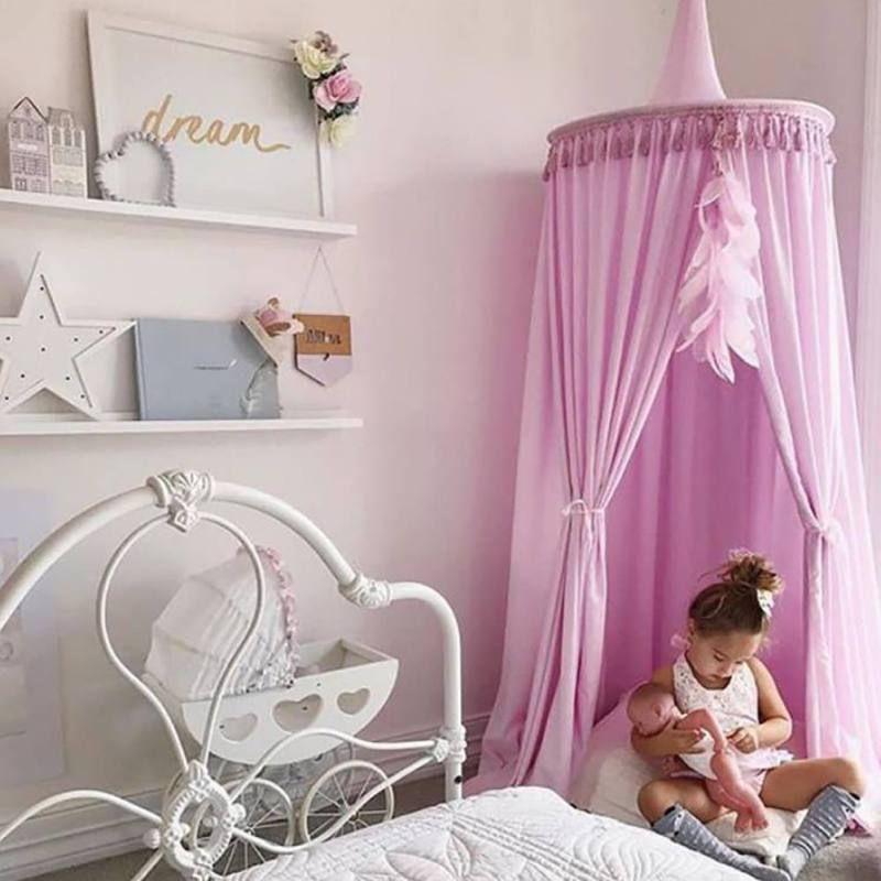 coton mosqutio Filet Suspendu Rideau Lit baldaquin pour enfants Baby Indoor OUTDOO