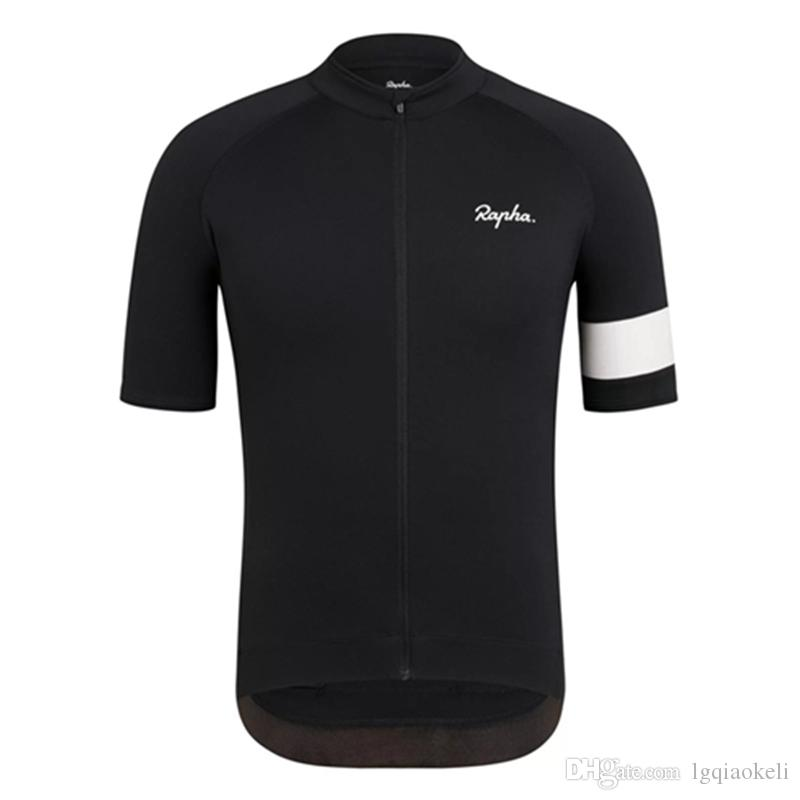 2019 Mens RAPHA cyclisme manches courtes maillot Coupe-vent vélo T-shirt Slim fit été Sports de plein air 60605