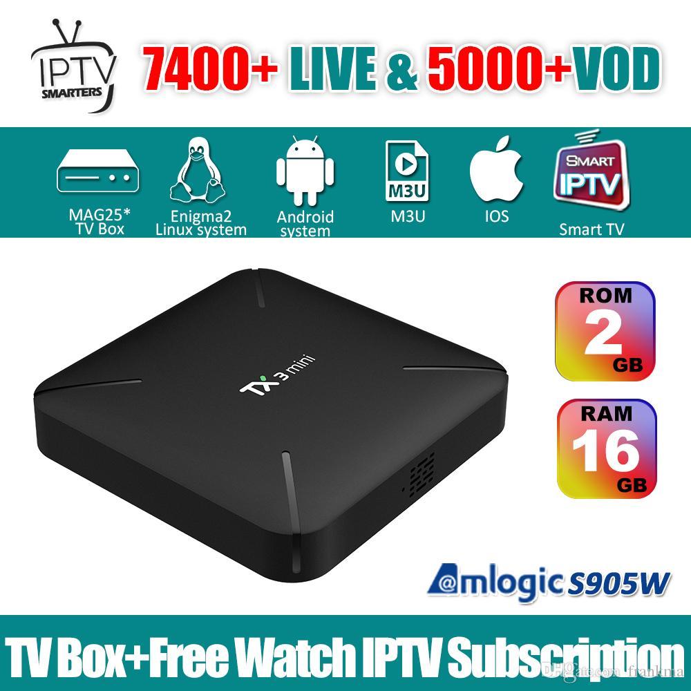 smart IPTV 7000+ channel Dragon iptv subscription Turkish Indian African  France Italia Europe abbonamento iptv Android 7 1 s905w tv box TX3