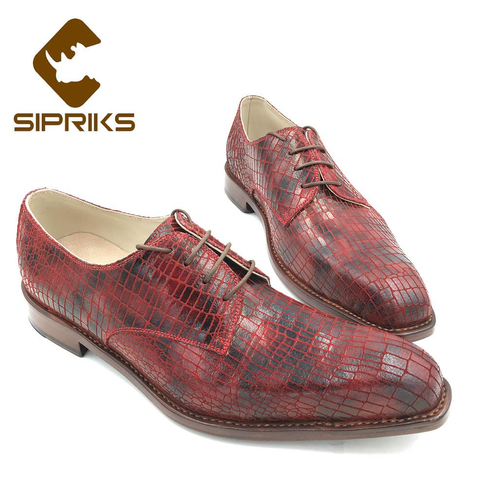 Sipriks Italian Handmade Mens Goodyear Welted Dress Shoes Fashion Boss Business Office Derby Shoes Lace Up Gents Suit Social 45 Formal Shoes Shoes