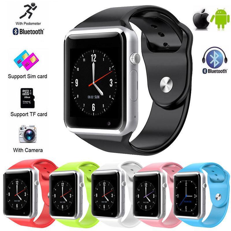 88e482e80 Relojes Caballero Cámara A1 Impermeable Para El Reloj Smart Watch Bluetooth  GSM Para Android / IOS SIM El Reloj Inteligente Del Teléfono Móvil Puede ...