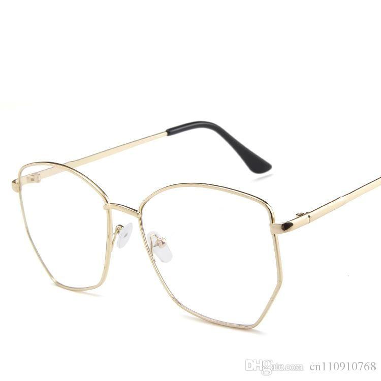 0543db41f06 2019 German Eyewear Clear Lens Glasses Brass Frame Big Size ...