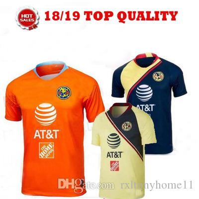 d5f5e4e77ad 2019 2018 LIGA MX Club America Soccer Jerseys Home Away 3rd Orange 18 19  O.PERALTA C.DOMINGUEZ MATHEUS Mexico Soccer Jersey Football Shirts From ...