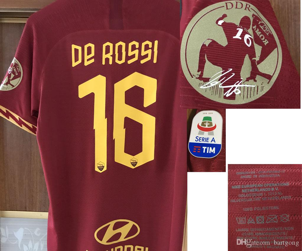 2019 Match Worn Player issue Farewell de rossi testimonial With Wash tag Iron On Soccer Patch badge