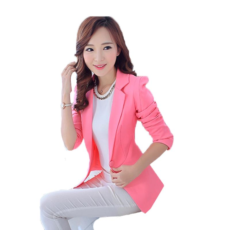 quite nice 5736e 9e84c Giacche blazer rosa per le donne Suit European Style 2019 primavera fashion  Work Suit Suit blazer tuta sportiva bianco