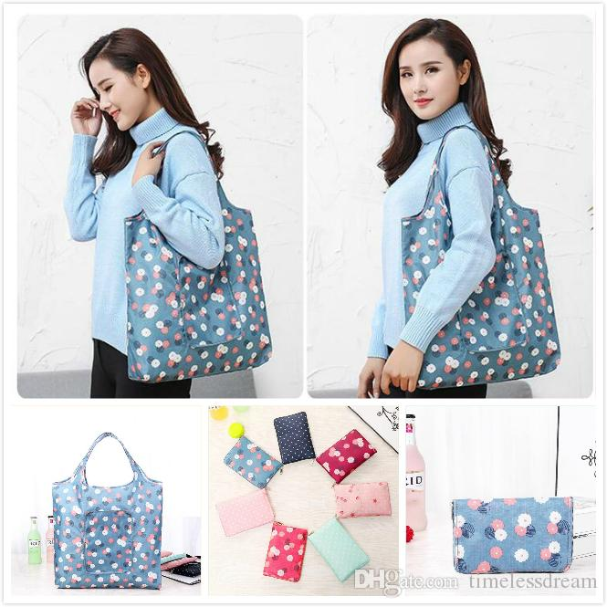 Durable Foldable Shopping Bags Waterproof Reusable Home Storage Bag Eco Friendly Shopping Bag Tote Bags Colorful Grocery bag