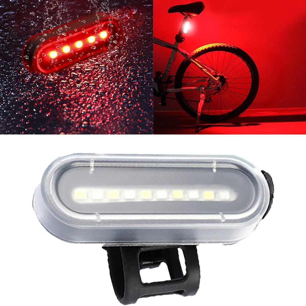 LED Safety Warning For Bike Bike Taillight UFO Light Mountain Road Bicycle