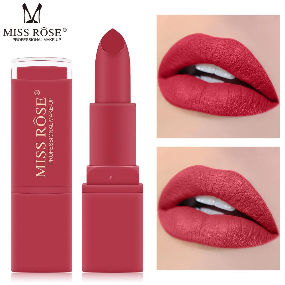 MISS ROSE Brand matte lipstick easy to color lipstick Long-lasting Sexy red korean fashion 12 color vevet