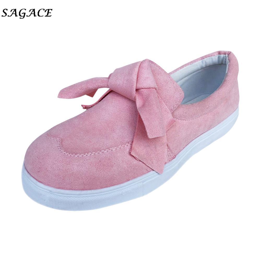 Moda Vintage Ladies Zapatos Otoño Vestir On Chicas De Mujer Cagace Zapatillas Diseño Casual Slip Bowknot ZgSa7Zn8