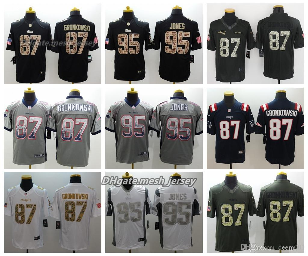 separation shoes da290 66ae1 Men Jersey Patriots 95 Chandler Jones 87 Rob Gronkowski Color Rush Football  Stitching Jerseys Embroidery