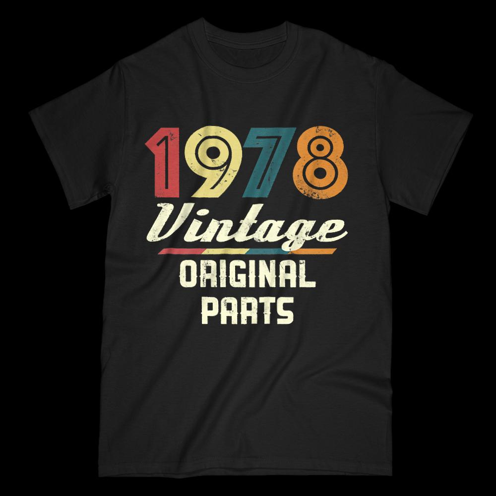 Vintage 1978 Tee 40th Birthday Gift T Shirt Men Turning 40 Funky 100 Cotton Family Top New Short Sleeve Buy Cool Shirts Online Funny